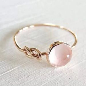 Pink fire opal ring